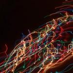leuchtende Linien