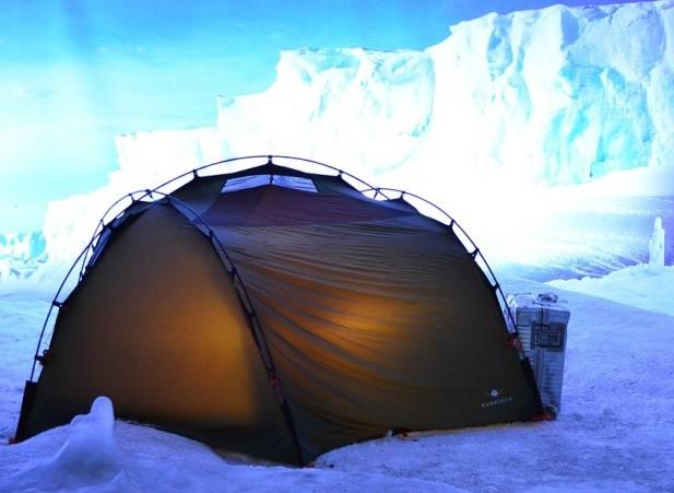 Zelt in der Antarktis