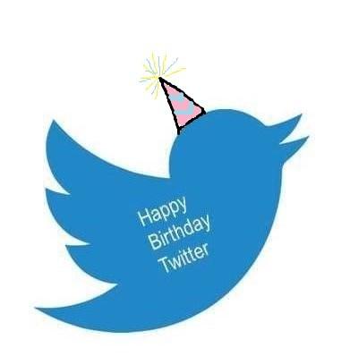 Twitter Vogel mit Happy-Birthday
