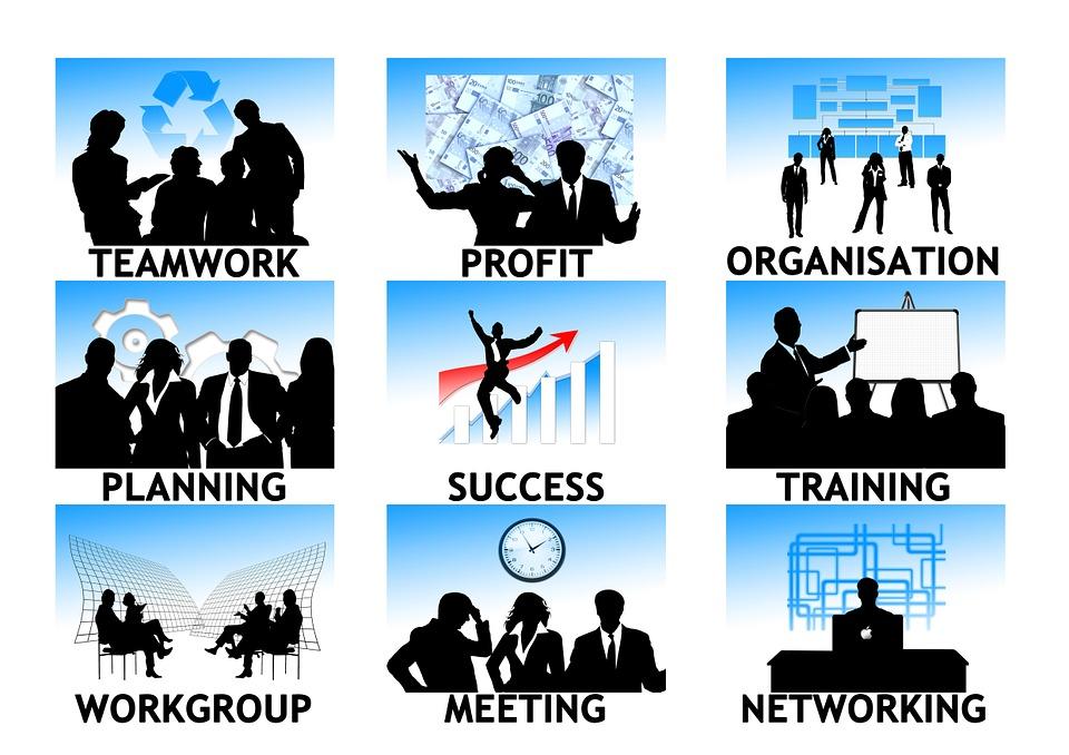 Icons zum Unternehmenserfolg