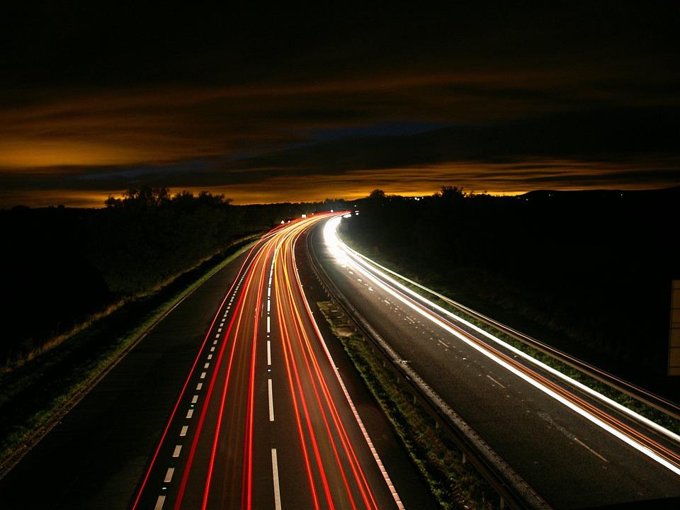 Autobahn Verkehrslichter