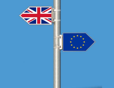Wegweiser Großbritannien Europa