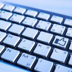 Tastatur Facebook Like und Dislike Button