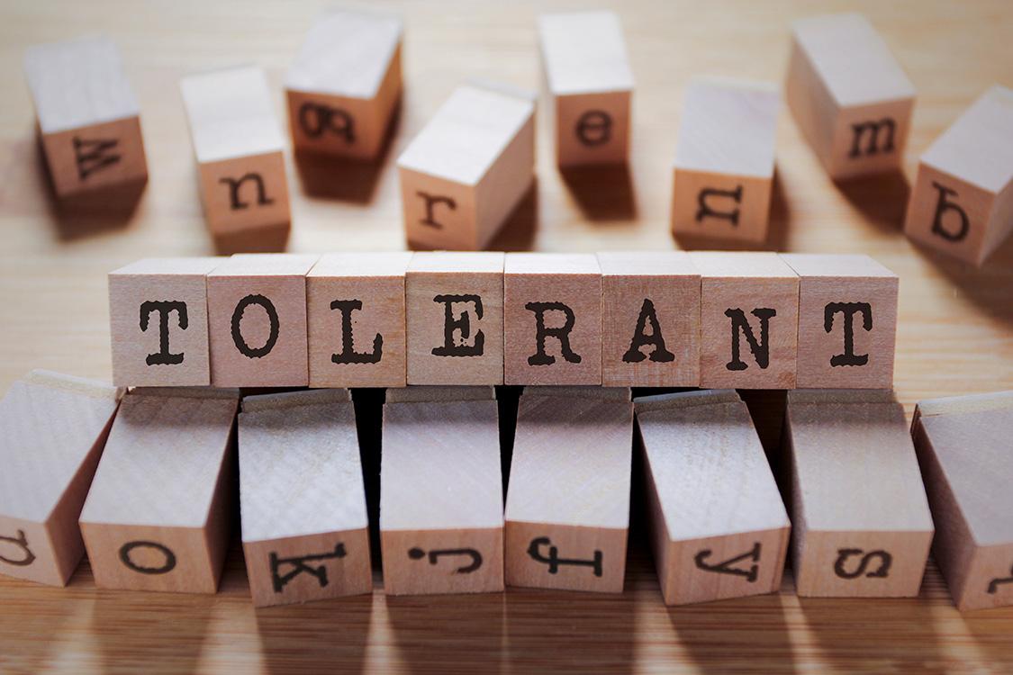Toleranz zeigen