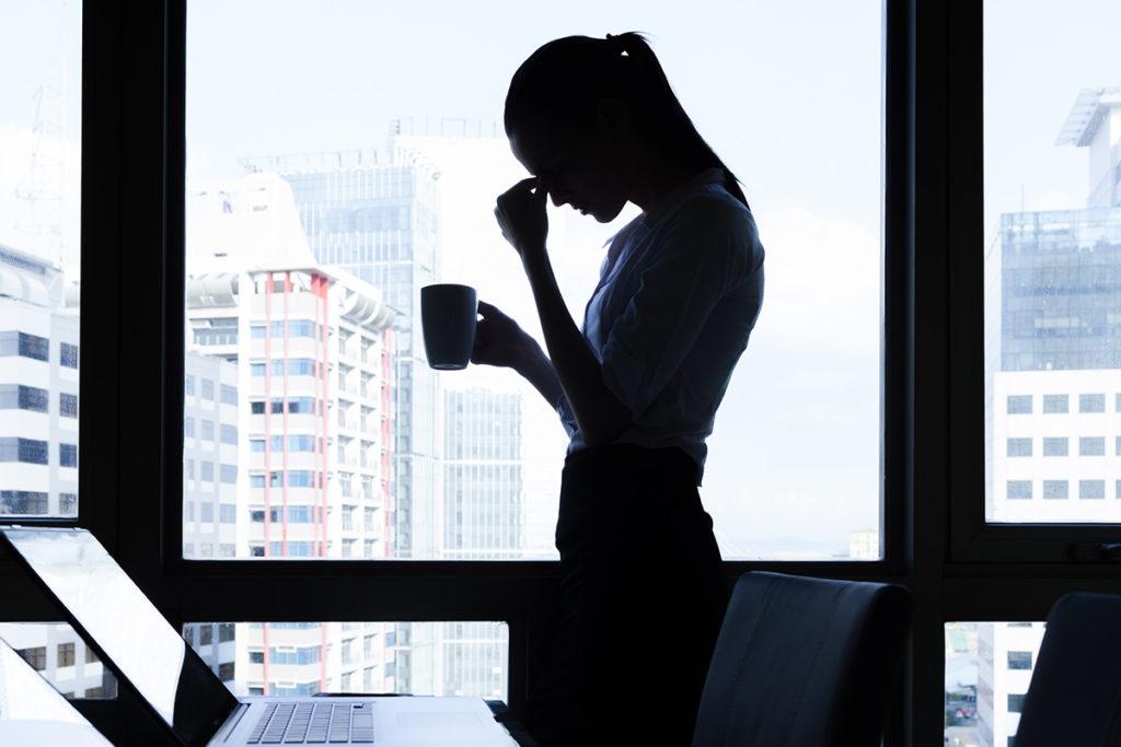 Stress bei einer Business-Frau